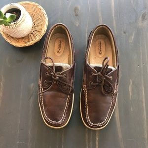 Sperry top sider brown leather boat shoes size 8.5